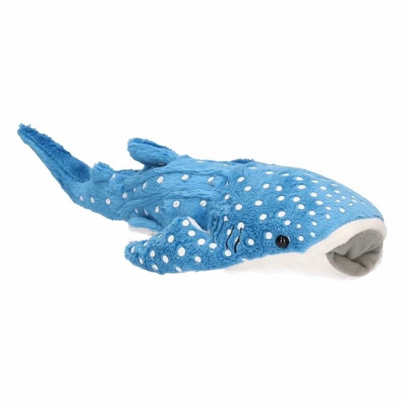 Pluche blauw walvis haaitje 28 cm