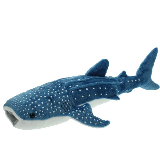 Pluche blauwe walvis haaien knuffel 54 cm