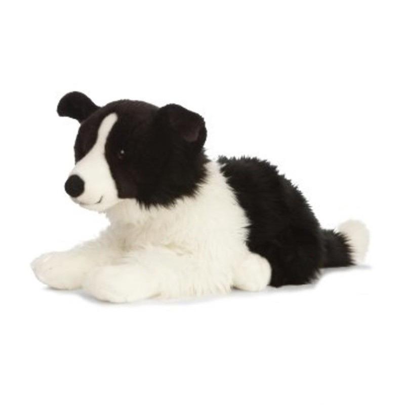 Pluche Border Collie hond knuffeldier liggend 60 cm