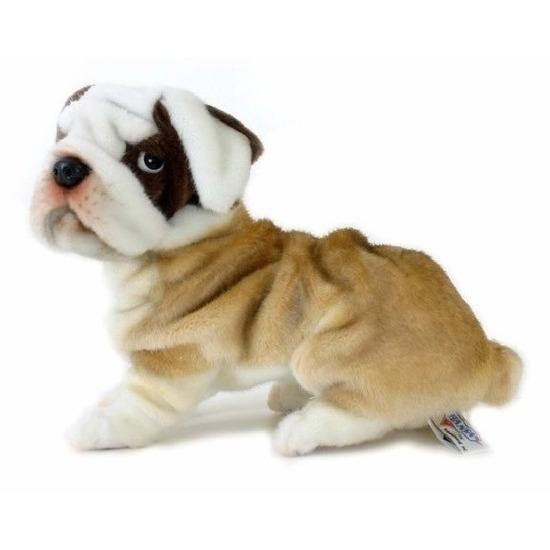 Pluche bulldog knuffel hond 30 cm