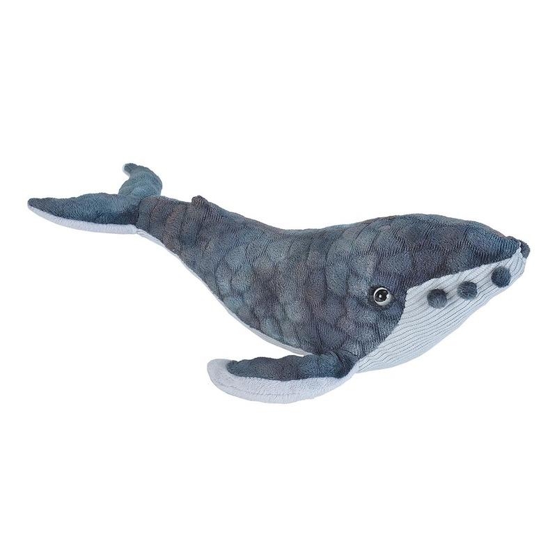 Pluche bultrug walvis dierenknuffel 20 cm