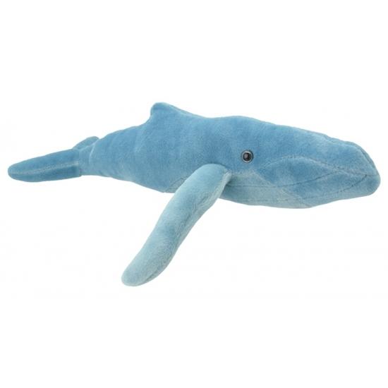 Pluche bultrug walvis knuffeldier 34 cm