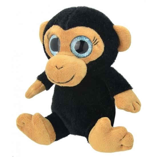 Pluche chimpansee aap knuffeldier 18 cm