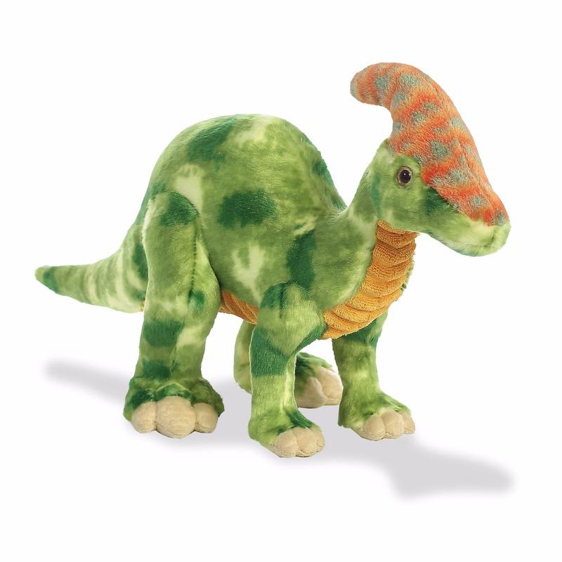 Pluche dinosaurus knuffeldier Parasaurolophus 35 cm