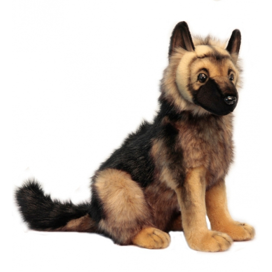 Pluche Duitse Herder pup knuffels 41 cm