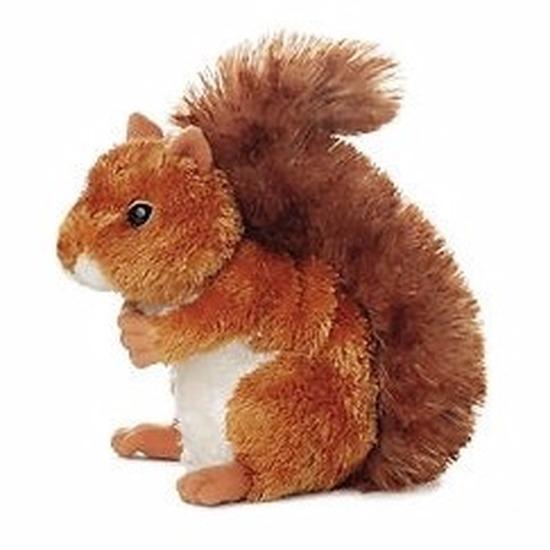 Pluche eekhoorn knuffel 16 cm