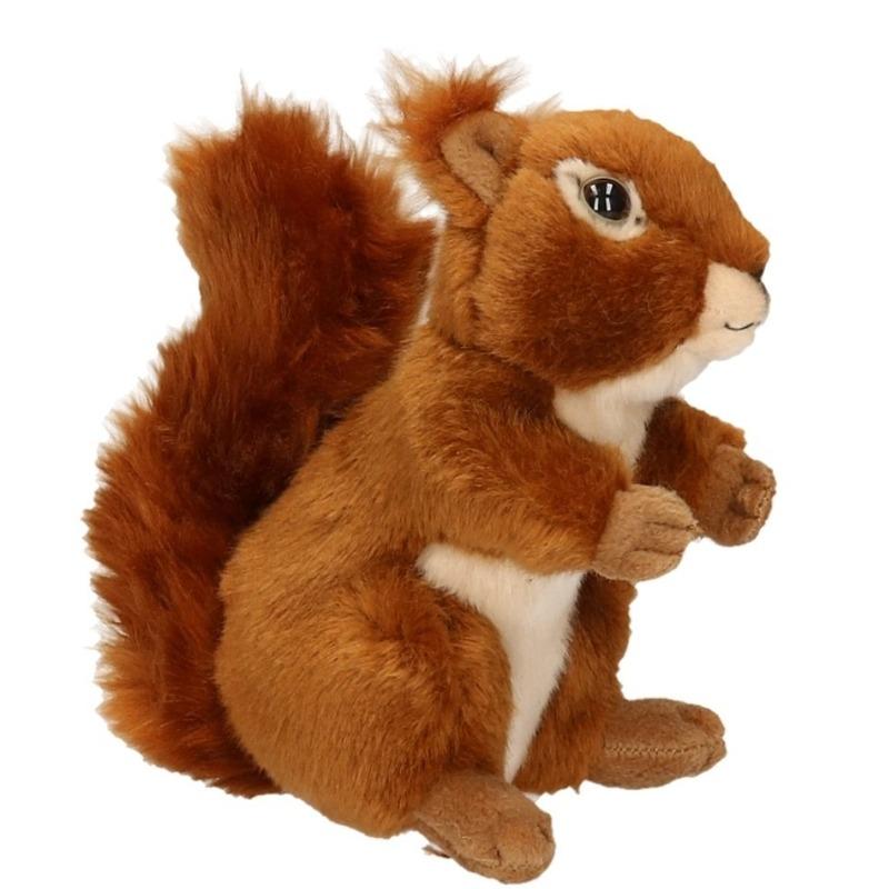 Pluche eekhoorn knuffel zittend 17cm