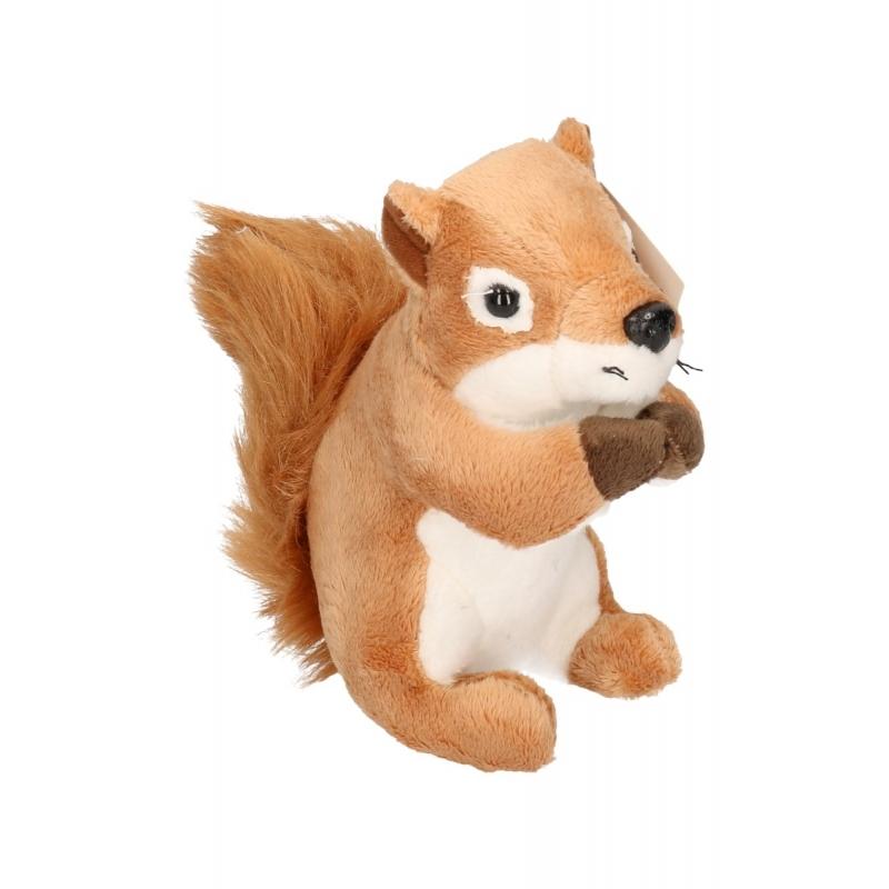 Pluche eekhoorn knuffeltje14 cm