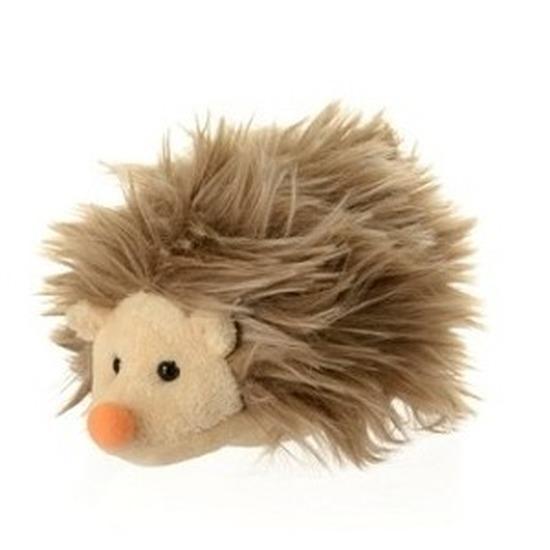 Pluche egel bruin knuffel 12 cm knuffeldieren