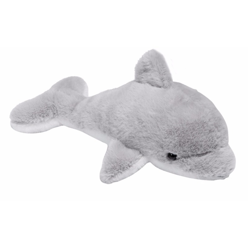 Pluche grijze dolfijnen knuffel 20 cm