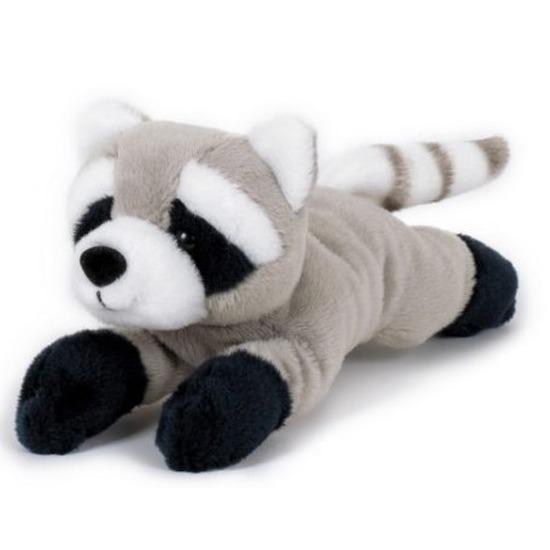 Pluche grijze wasberen knuffels 13 cm knuffeldieren