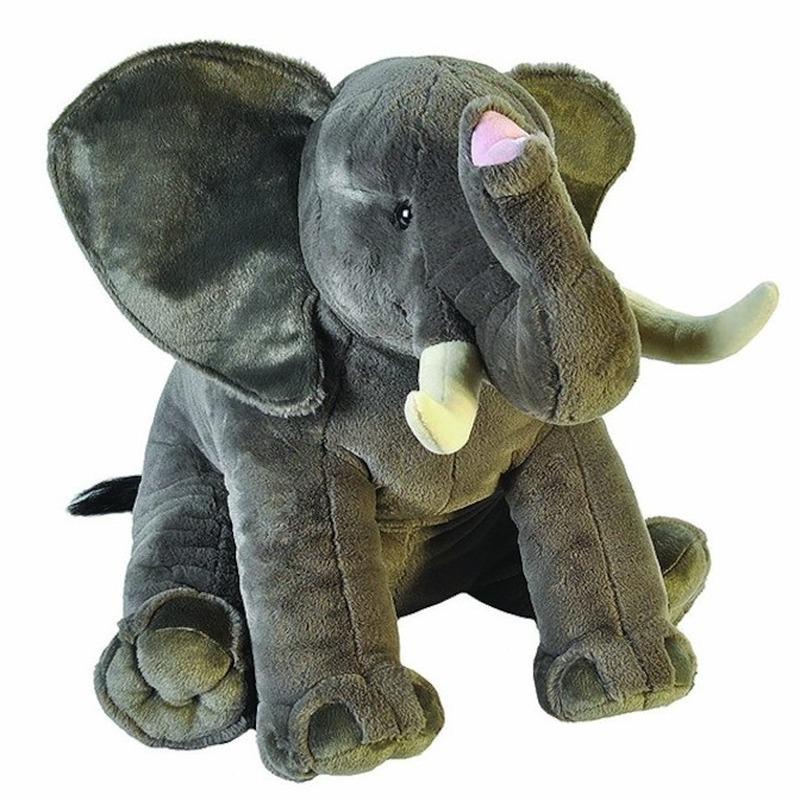 Pluche grote olifant dierenknuffel 70 cm