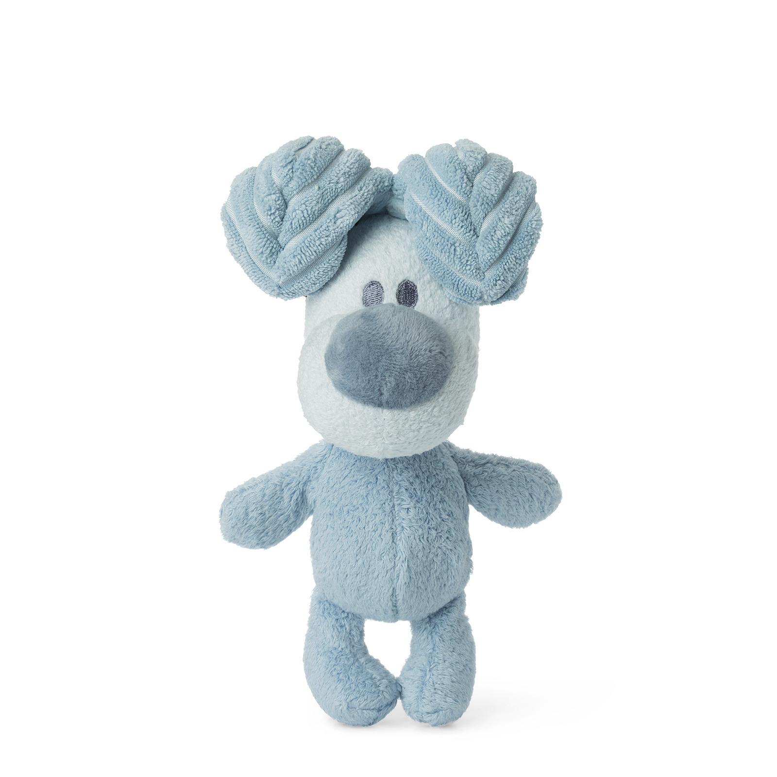 Pluche honden knuffel Woezel blauw 19 cm