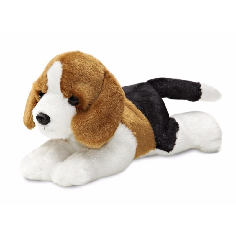 Pluche honden knuffeldier beagle 20 cm
