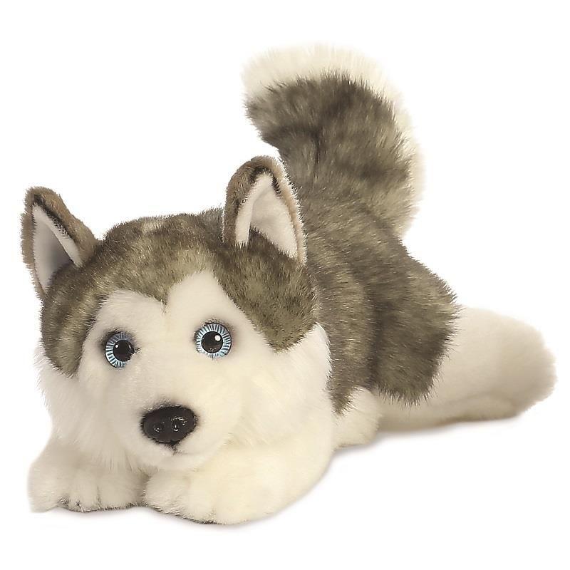 Pluche husky hond knuffel 28 cm