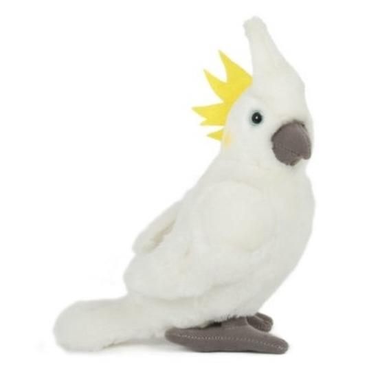 Pluche kaketoe wit knuffel vogel 23 cm knuffeldieren