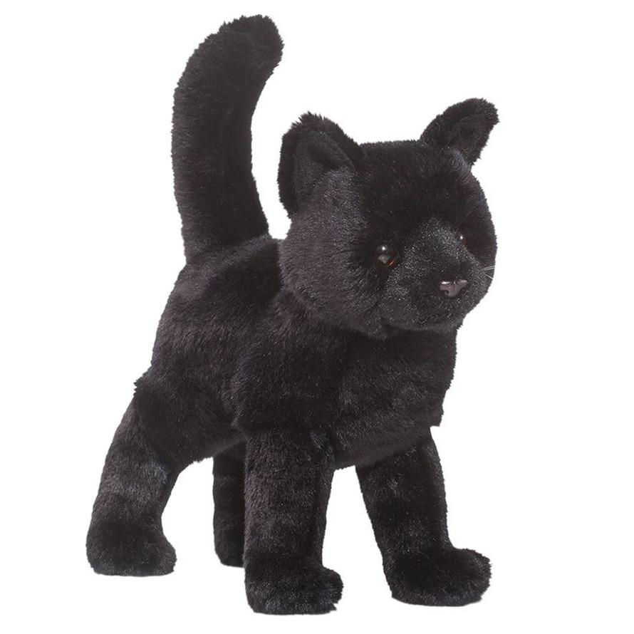 Afbeelding Pluche kat/poes knuffel zwart 30 cm door Animals Giftshop