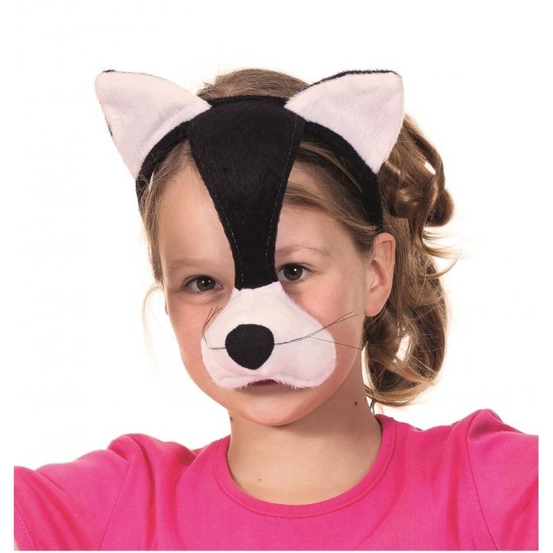 Pluche katten masker met geluid