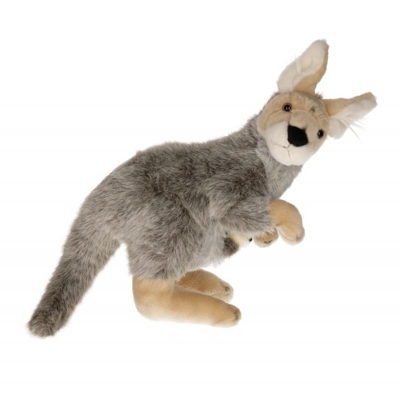 Pluche knuffel kangoeroes 33 cm