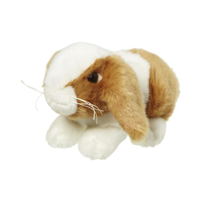 Pluche knuffel konijntje bruin/wit