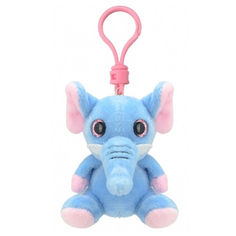 Pluche knuffel olifant sleutelhanger 9 cm
