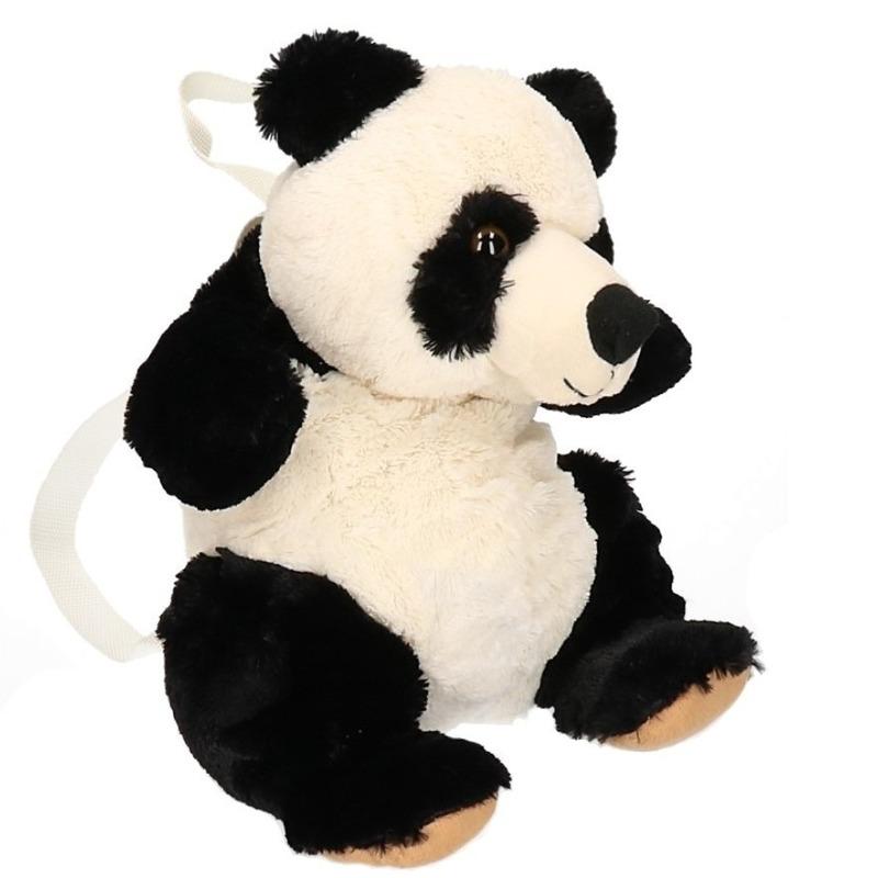 Pluche knuffel panda kinder rugzak 22 cm