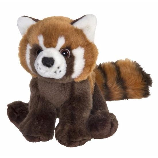 Pluche knuffel rode panda 18 cm