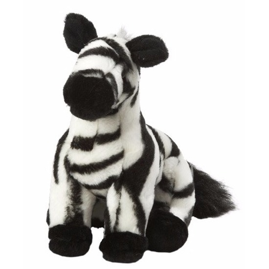 Pluche knuffel zebra 18 cm