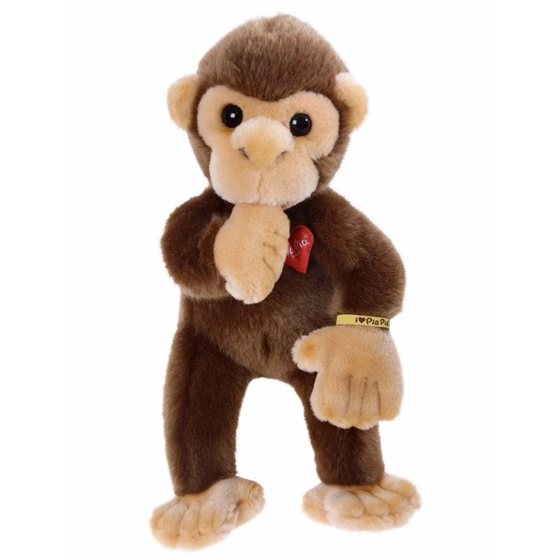Pluche knuffeldier bruine baby aap 30 cm