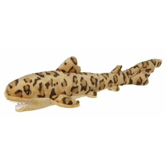 Pluche knuffeldier luipaard haai 60 cm