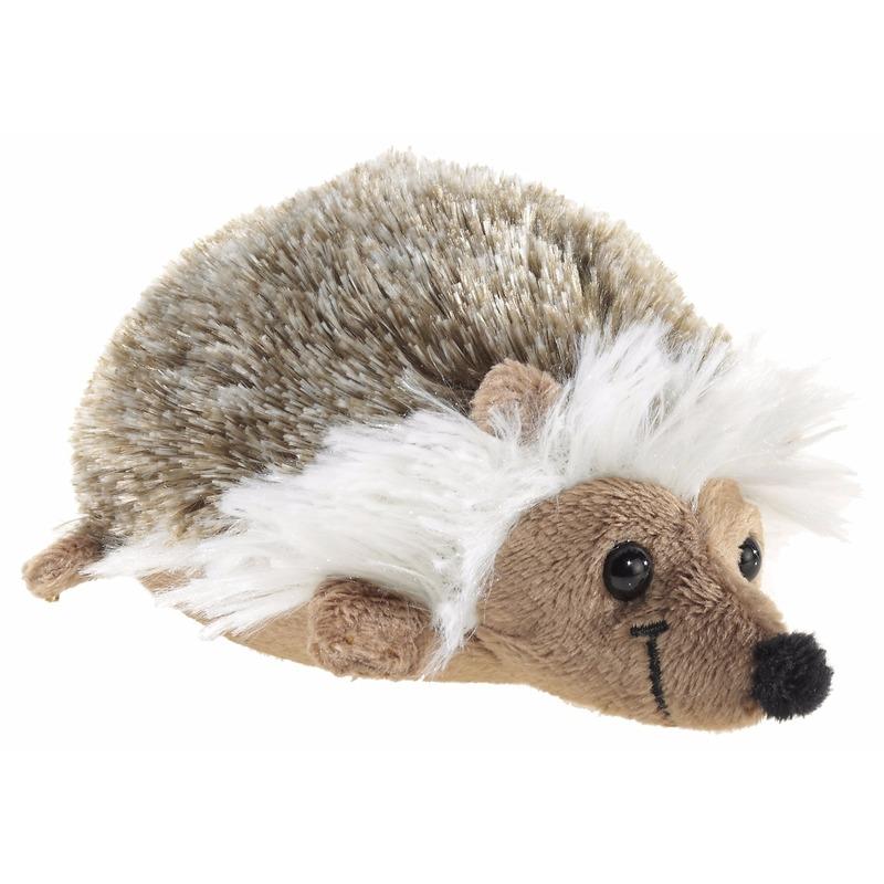 Pluche liggende egel knuffeldier 12 cm