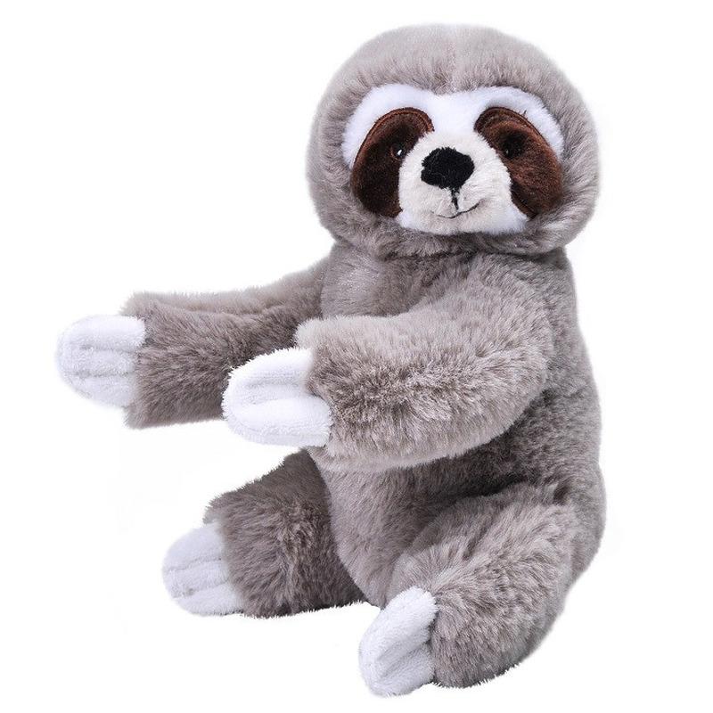 Pluche luiaard grijs knuffel 25 cm knuffeldieren