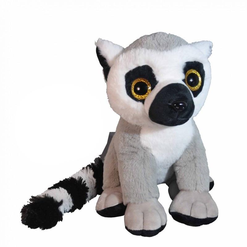 Pluche Maki ringstaart aap/apen knuffeldieren/knuffelbeesten 28 cm