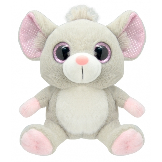 Pluche muis knuffeldier 19 cm