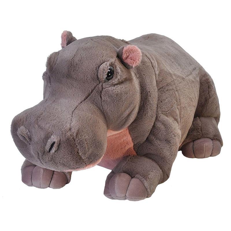 Pluche nijlpaard grote dierenknuffel 76 cm