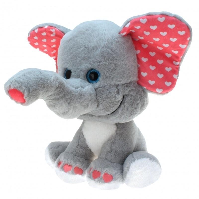 Pluche olifant grote dierenknuffel 0 cm