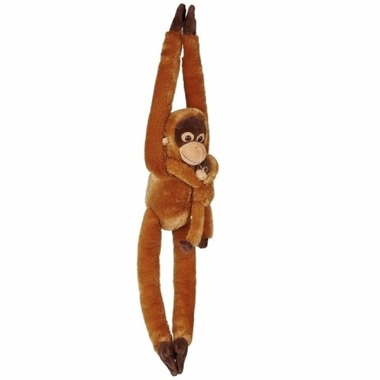 Pluche Orang Oetan met baby knuffeldier 84 cm