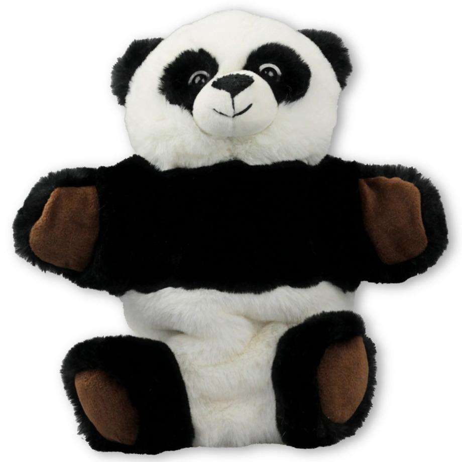 Pluche panda beer handpop knuffel 25 x 23 cm speelgoed
