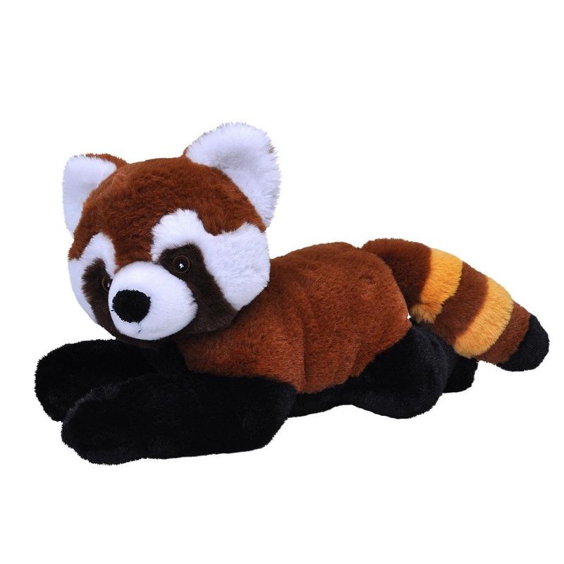Pluche pandabeer rood knuffel 30 cm knuffeldieren