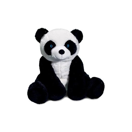 Pluche pandabeer zittend 30 cm