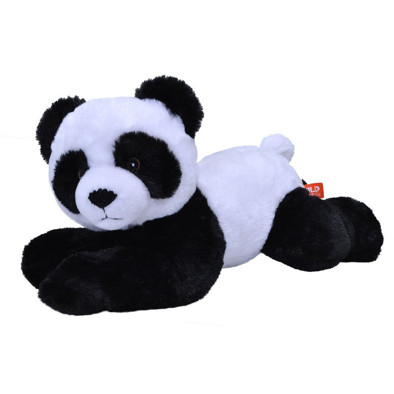 Pluche pandabeer zwart/wit knuffel 30 cm knuffeldieren