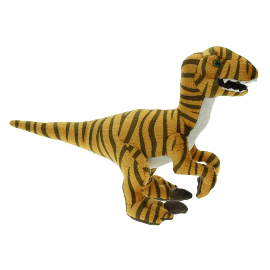 Pluche raptor dino knuffel 32 cm