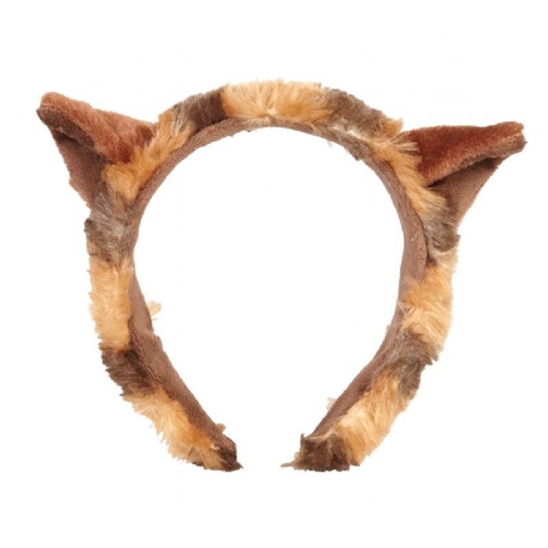 Pluche rode panda beer hoofdband met oortjes 15 cm