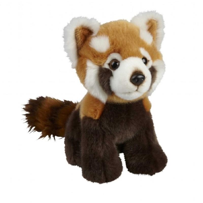 Pluche rode panda knuffel 18 cm knuffeldieren