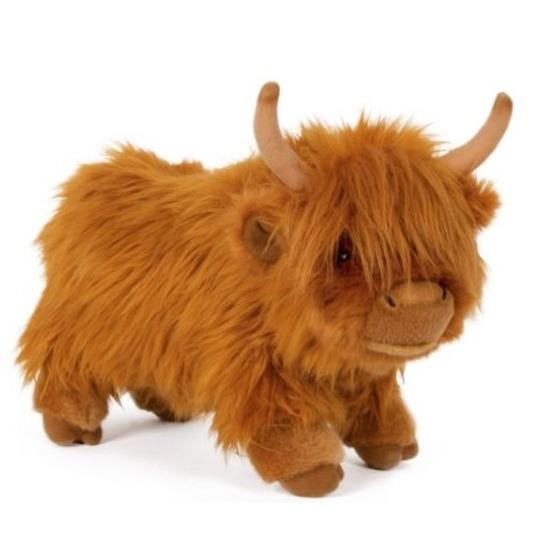 Pluche Schotse hooglander koe bruin knuffel 30 cm knuffeldieren