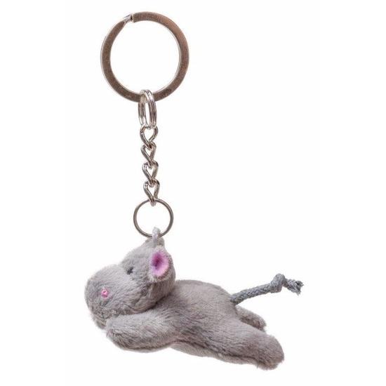 Pluche sleutelhanger nijlpaard knuffel 6 cm