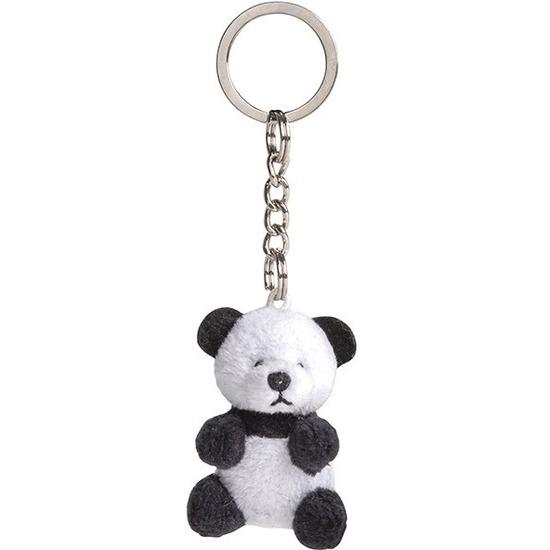 Pluche sleutelhangers Pandabeer knuffel 6 cm