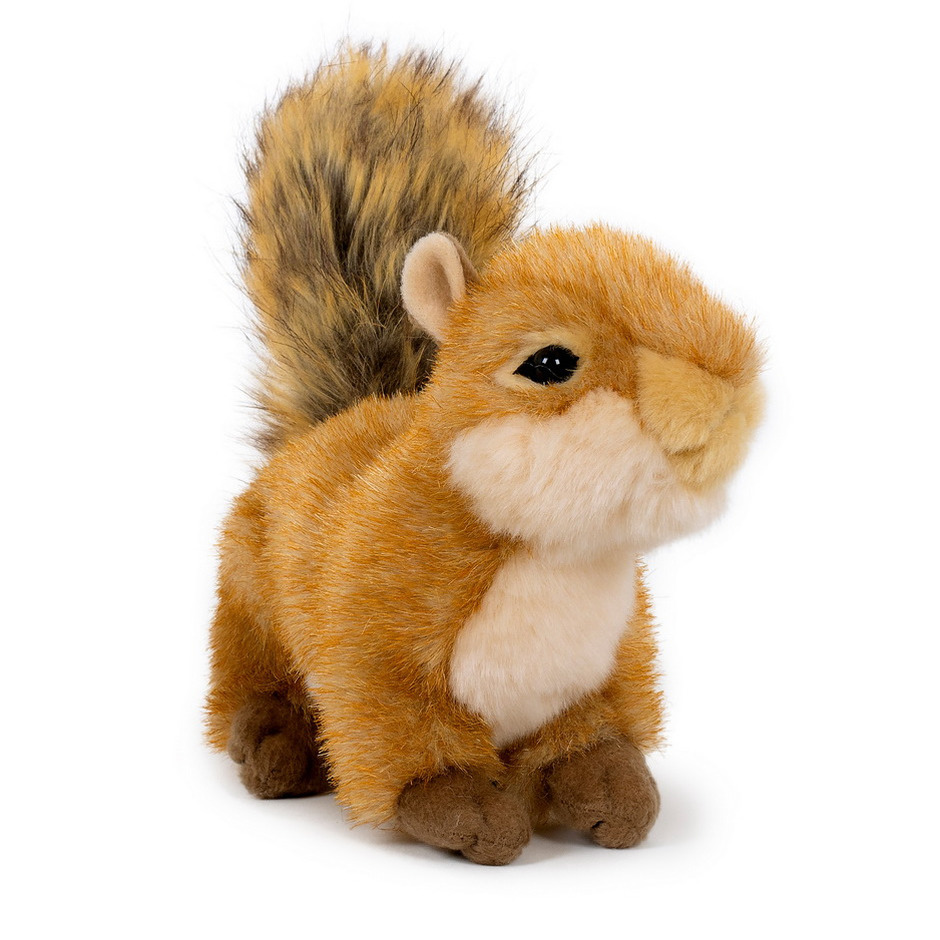 Pluche speelgoed eekhoorn knuffeldier 20 cm