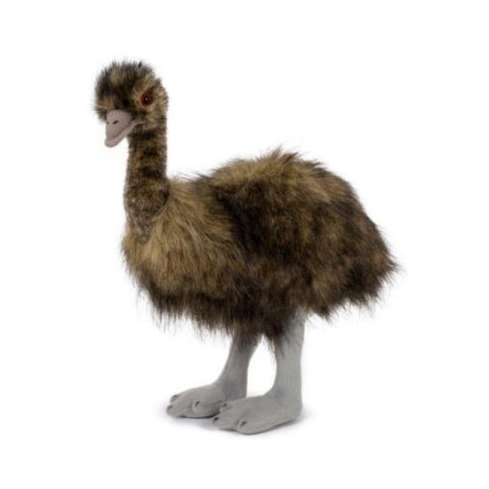 Pluche speelgoed emoe/struisvogel knuffeldier 38 cm