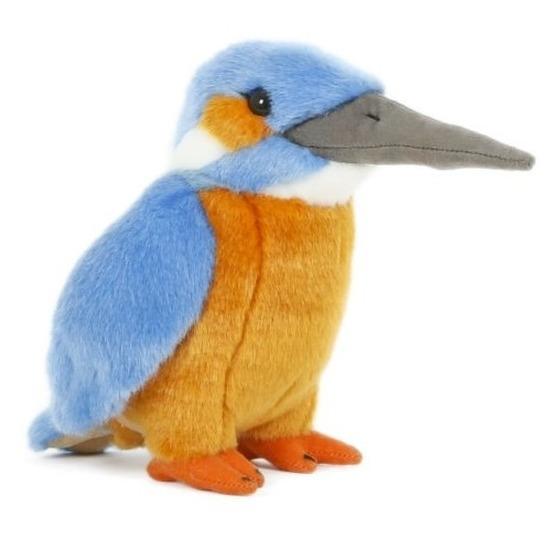 Pluche speelgoed ijsvogel knuffeldier 15 cm